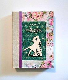 Papiernictvo - Svadobný plánovač/kniha hostí/zápisník/diár/sketchbook ,,My love