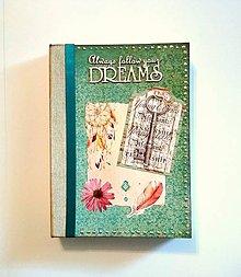 Papiernictvo - Ručne šitý diár * zápisník * sketchbook A5 - 9445087_