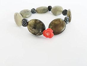 Náramky - Koralová ružička ...     náramok - 9446260_