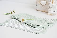 Úžitkový textil - Kúpeľňové žinky II (mint) - 9446392_