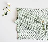 Úžitkový textil - Kúpeľňové žinky II (mint) - 9446393_
