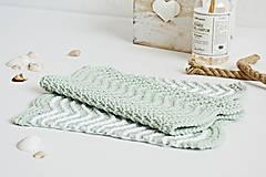 Úžitkový textil - Kúpeľňové žinky II (mint) - 9446396_