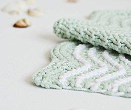 Úžitkový textil - Kúpeľňové žinky II (mint) - 9446395_