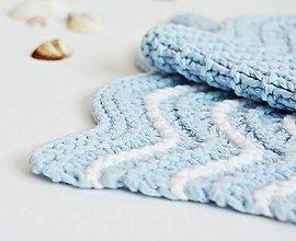 Úžitkový textil - Kúpeľňové žinky II (modré) - 9446408_
