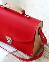 Veľké tašky - Kabelka na rameno MAXI SATCHEL BAG RED - 9446330_