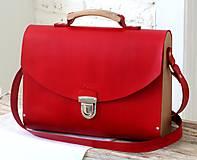 Veľké tašky - Kabelka na rameno MAXI SATCHEL BAG RED - 9446333_