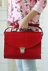 Veľké tašky - Kabelka na rameno MAXI SATCHEL BAG RED - 9446334_