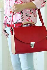 Veľké tašky - Kabelka na rameno MAXI SATCHEL BAG RED - 9446352_