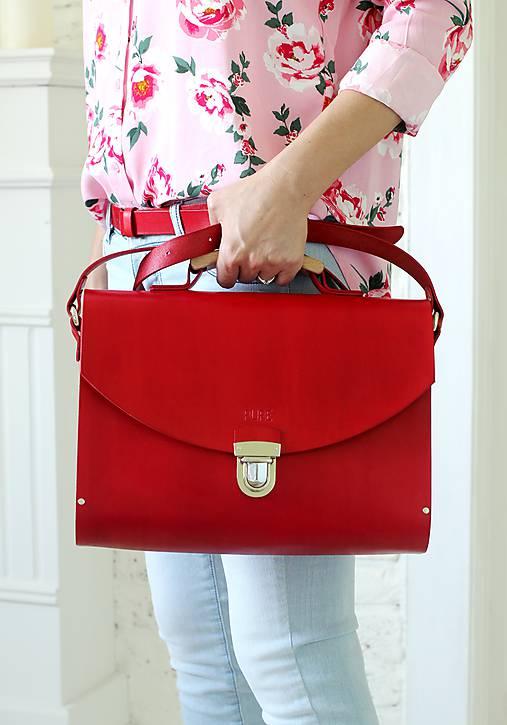 Kabelka na rameno MAXI SATCHEL BAG RED