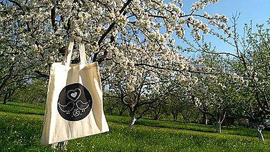 Nákupné tašky - Plátená eco taška čiernobiela - 9445821_