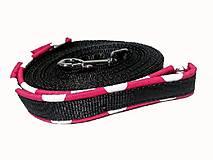 Pre zvieratká - Stopovacie vodítko Ružová bodka so softshellom - 9446288_