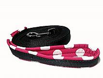 Pre zvieratká - Stopovacie vodítko Ružová bodka so softshellom - 9446289_