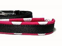 Pre zvieratká - Stopovacie vodítko Ružová bodka so softshellom - 9446290_