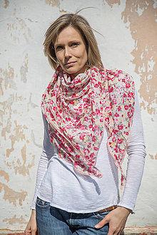 Šatky - romantik šatka Rose obrovská - 9445874_