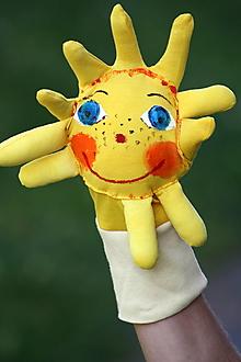 Hračky - Maňuška. ORIGINÁL Slniečko na rukavičke. - 9445689_