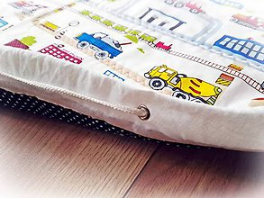 Textil - Detská podložka na hranie Autodráha - 9446097_