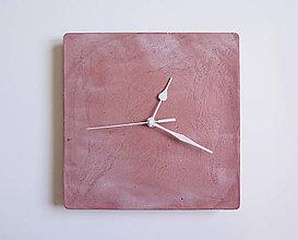 Hodiny - Ručne vyrobené nástenné hodiny – Terracotta pure cube - 9447461_