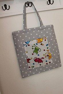 Nákupné tašky - Detská nákupná taška s mačikami.. - 9444819_