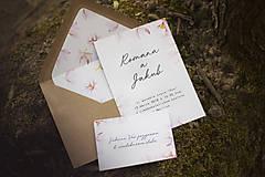 Papiernictvo - Svadobný set - Jarný kvet - 9447507_