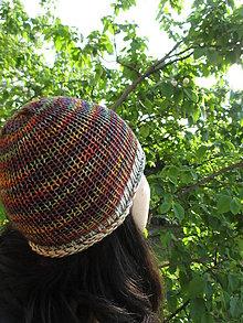 Čiapky - FAREBNÁ ČIAPKA, 9 farieb na výber + Vaša farba, 100% merino - aj ako ROLL - UP, ručne/STROJOM pletená (Farebná s farebno - bielym lemom) - 9445008_