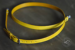 Polotovary - Kožený popruh - polotovar na kabelku - žltý - 9444770_