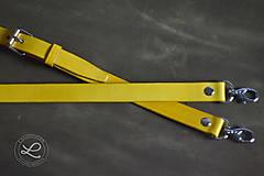 Polotovary - Kožený popruh - polotovar na kabelku - žltý - 9444771_