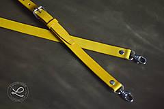 Polotovary - Kožený popruh - polotovar na kabelku - žltý - 9444772_