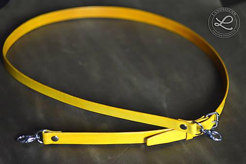 Kožený popruh - polotovar na kabelku - žltý