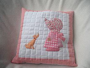 Textil - vankúš Zuzka so psíkom - 9444932_