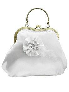 Kabelky - Kabelka pre nevestu, biela svadobná kabelka 0055 - 9447914_