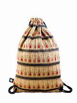 Batohy - Vzorovaný brokátový batoh/ruksak VINITHA 7 - 9445142_