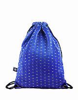 - Modrý brokátový batoh/ruksak s ornamentom VINITHA 10  - 9445227_