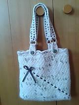 Veľké tašky - háčkovaná taška - 9446710_