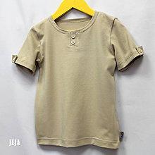 Detské oblečenie - Béžové tričko - 9447659_