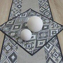 Úžitkový textil - Indiánsky vzor šedý - obrus štvorec 40x40 - 9447084_