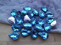 -  Kabošon sklenený 10 x 14 - kvapka  (Modrá) - 9445632_