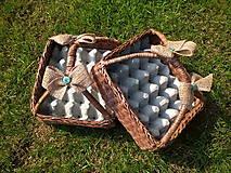 Košíky - Košík na vajíčka s rúčkou - 9445159_