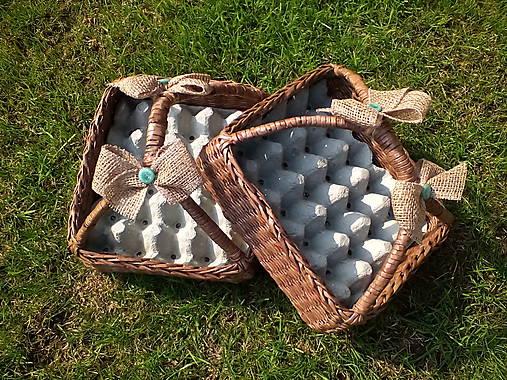 Košík na vajíčka s rúčkou