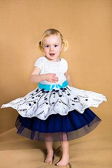 Detské oblečenie - Slávnostné dievčenské háčkované šaty na svadbu - 9447018  cdb482f475b