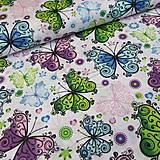 Úžitkový textil - Bavlna - motýliky - 9449559_