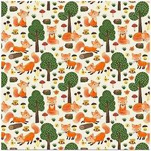 Textil - Líštičky na bielom podklade - 9449539_