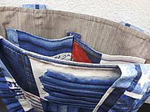 Veľké tašky - Sport Jeans bag (Červená) - 9448382_