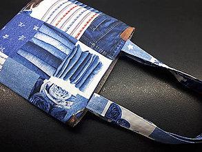 Veľké tašky - Sport Jeans bag (Modrá) - 9448537_