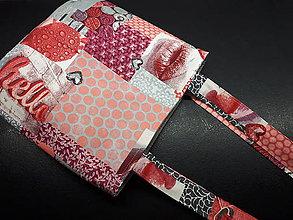 Veľké tašky - Sport Jeans bag (Červená) - 9448543_