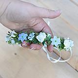 Jemný venček s ružičkami na 1. prijímanie, svadbu