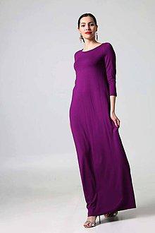 Šaty - Dlhé šaty fialové - 9448087_