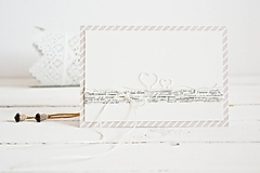 Papiernictvo - Svadobný pozdrav - srdiečka - 9447975_
