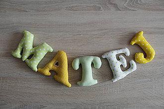 Detské doplnky - Písmenka - meno Matej - 9450806_