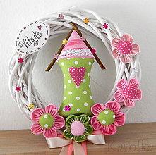 Dekorácie - Venček na dvere - V ružovom sade n.3 - 9448618_