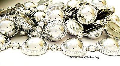 Galantéria - Ozdobná plastová lemovka strieborna - cena za 10 cm - 9449718_
